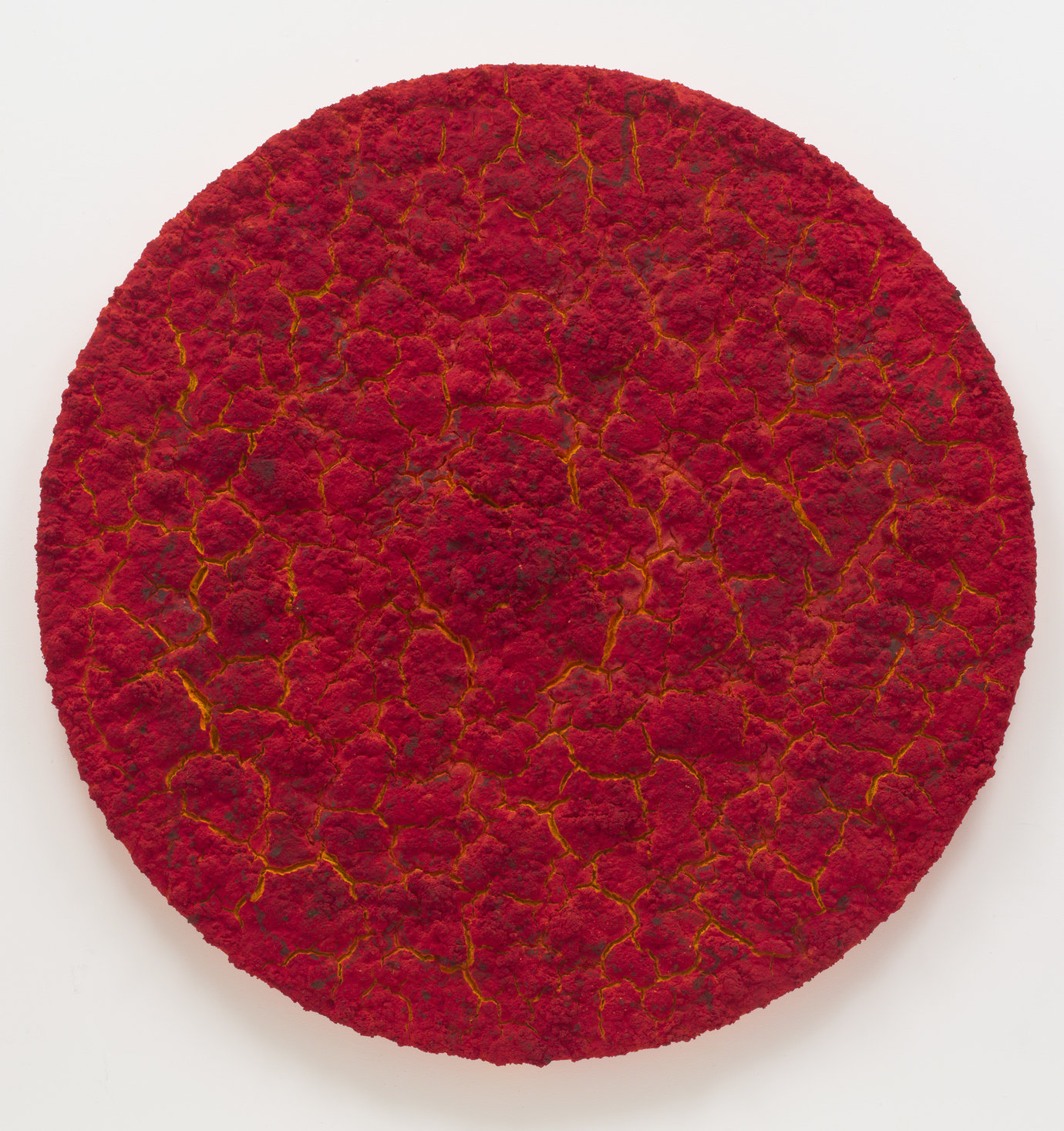 ", 2012. mixed media on canvas, 73-1/4"" (186 cm), diameter."