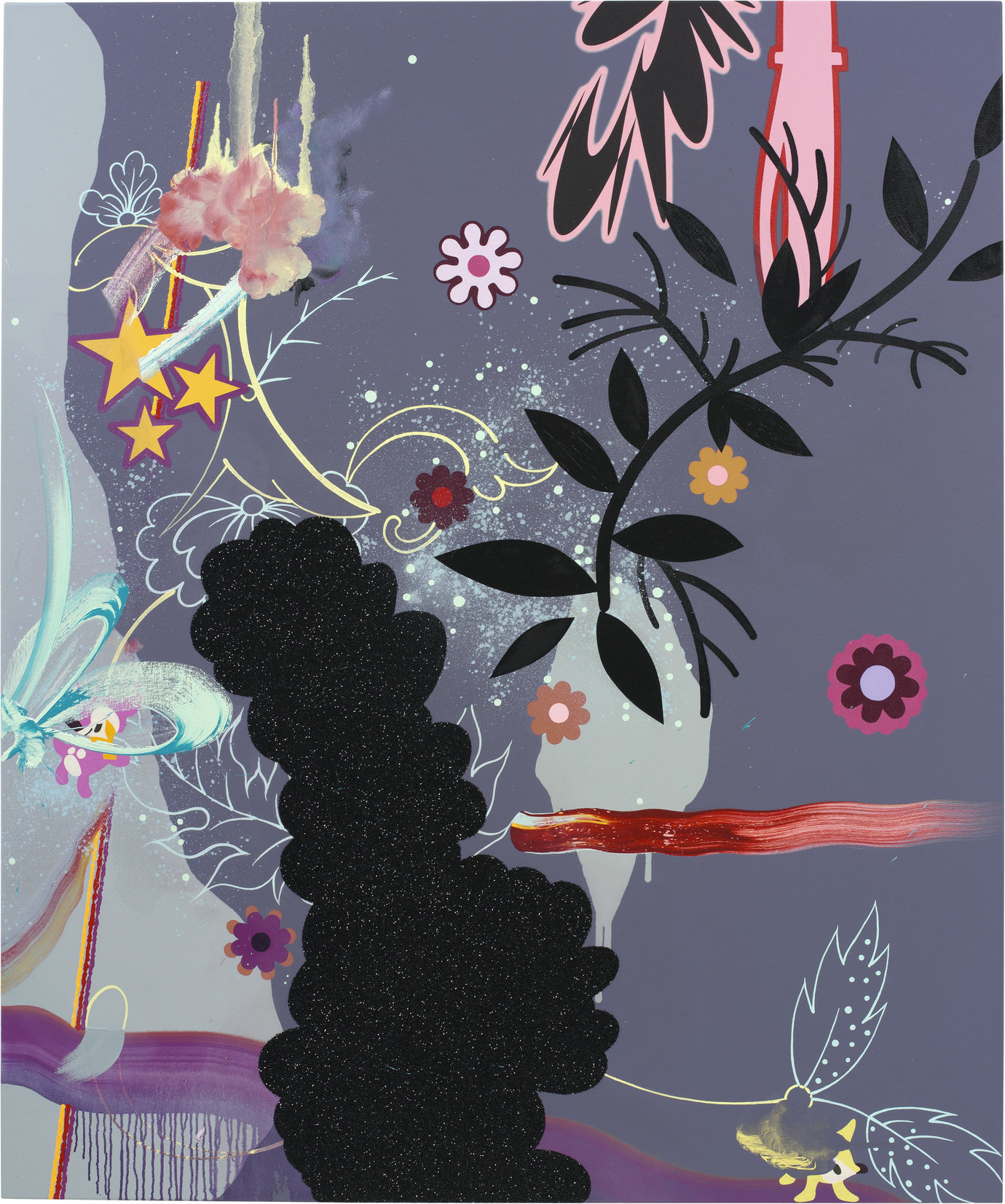 ", 2005. Oil, acrylic and glitter on canvas, 60"" x 50"" (152.4 cm x 127 cm)."