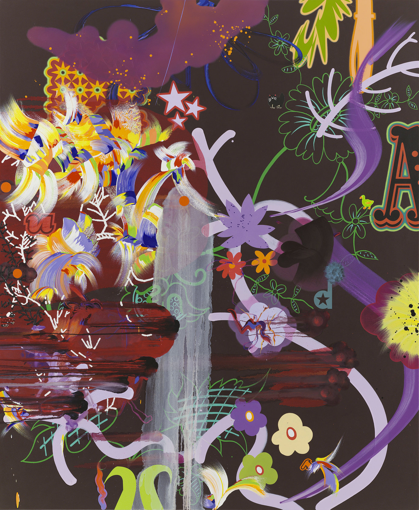 ", 2006. Oil, acrylic and gouache on canvas, 91"" x 75"" (231.1 cm x 190.5 cm)."
