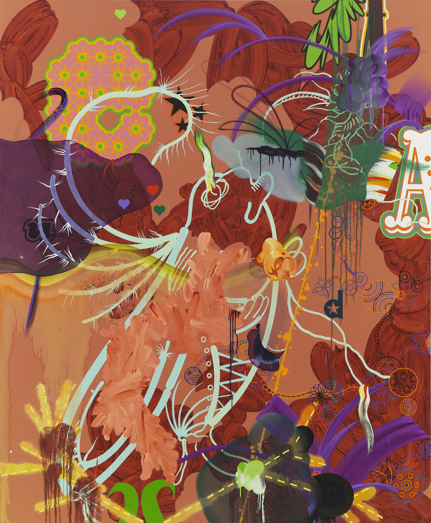 ", 2006. Oil and acrylic on canvas, 91"" x 75"" (231.1 cm x 190.5 cm)."