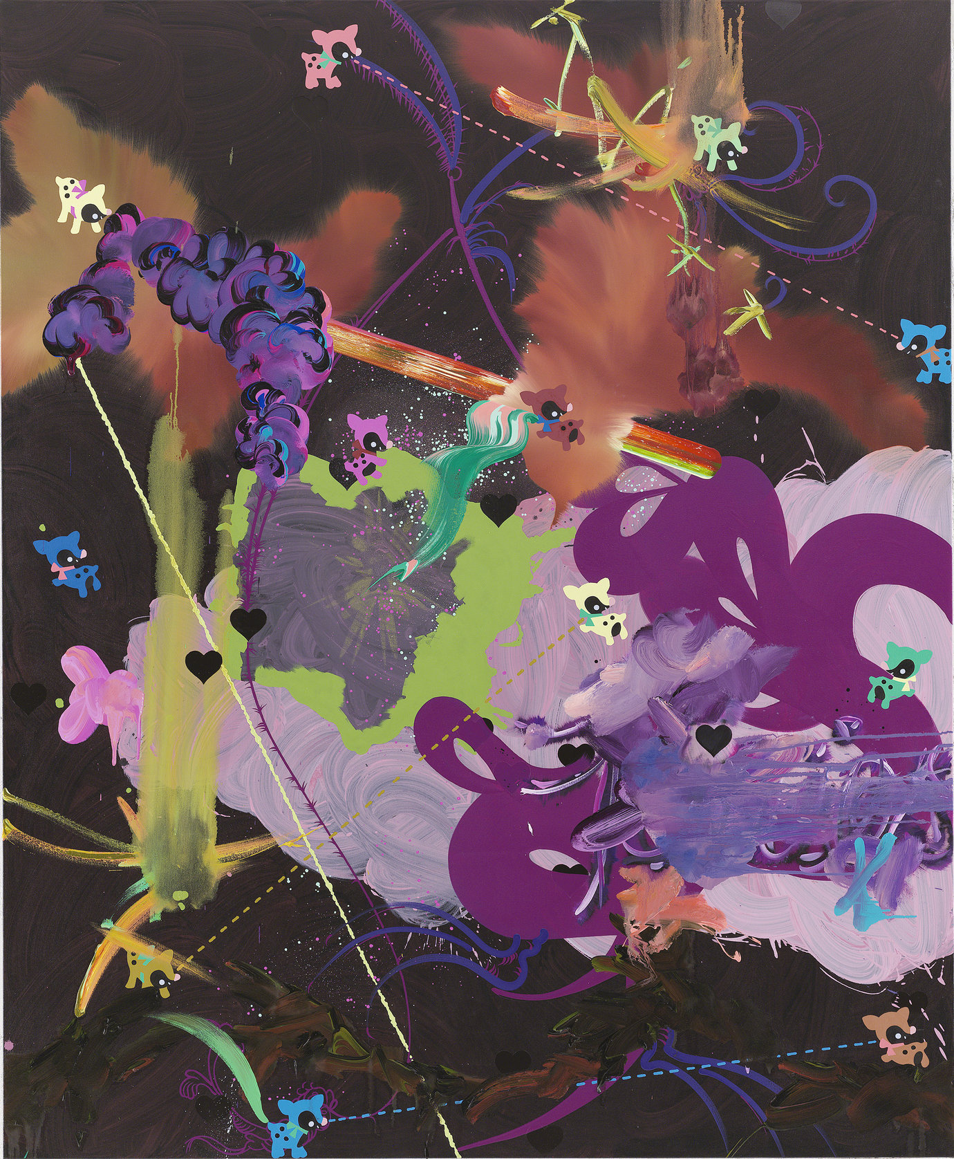 ", 2006. Oil and acrylic on canvas, 84"" x 69"" (213.4 cm x 175.3 cm)."