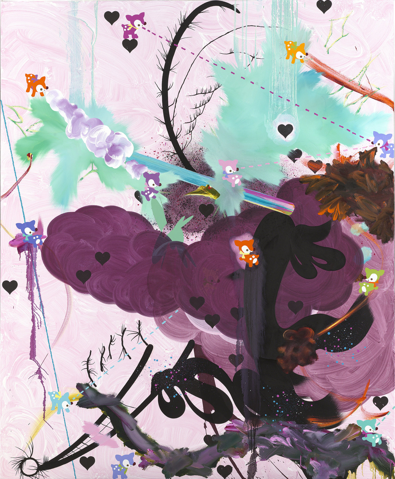 ", 2005. Oil and acrylic on canvas, 84"" x 69"" (213.4 cm x 175.3 cm)."