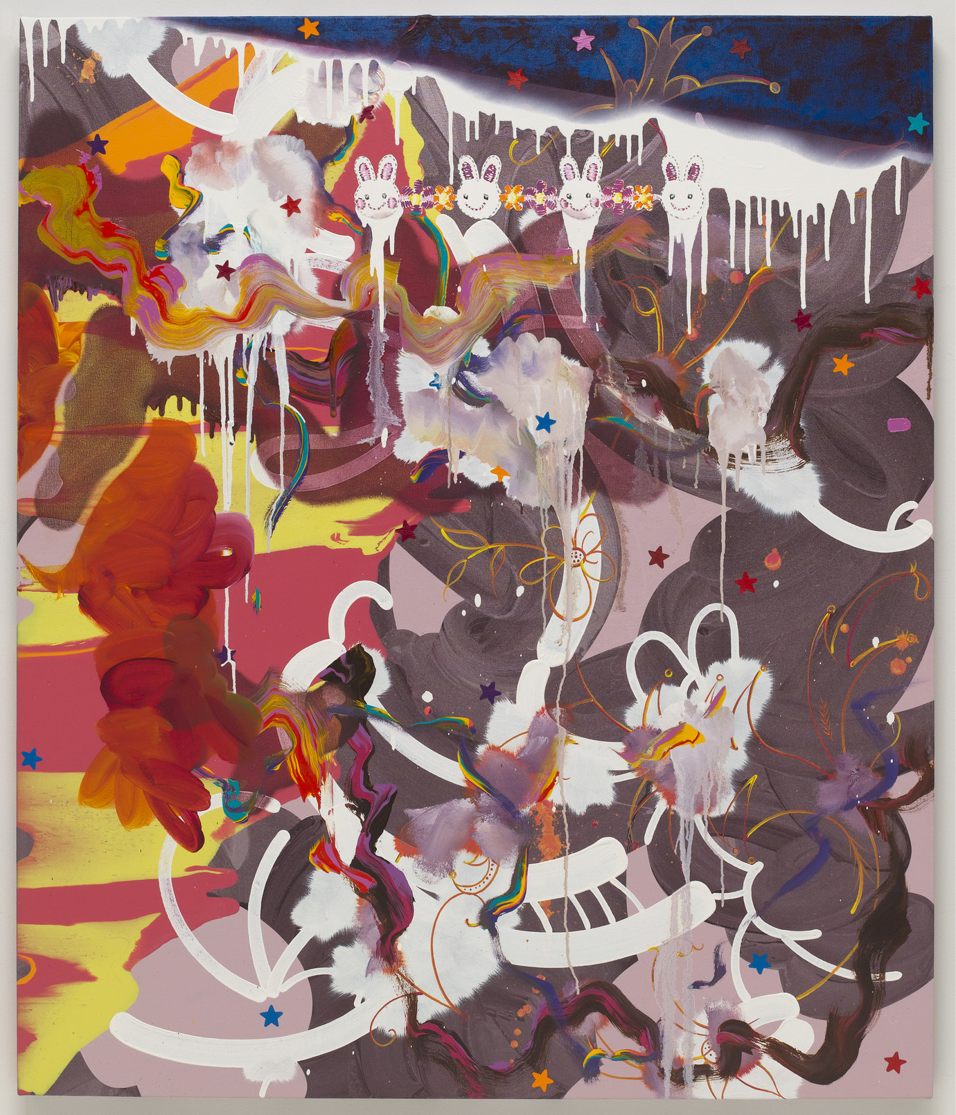 ", 2009. Oil, acrylic and gouache on canvas, 52"" x 44"" (132.1 cm x 111.8 cm)."