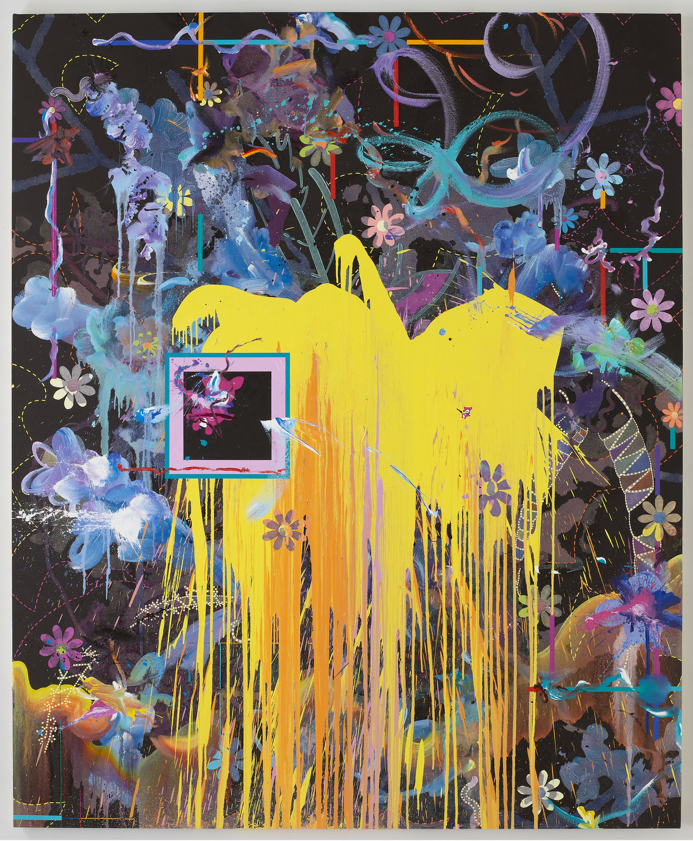 ", 2009. Oil and acrylic on canvas, 84"" x 69"" (213.4 cm x 175.3 cm)."