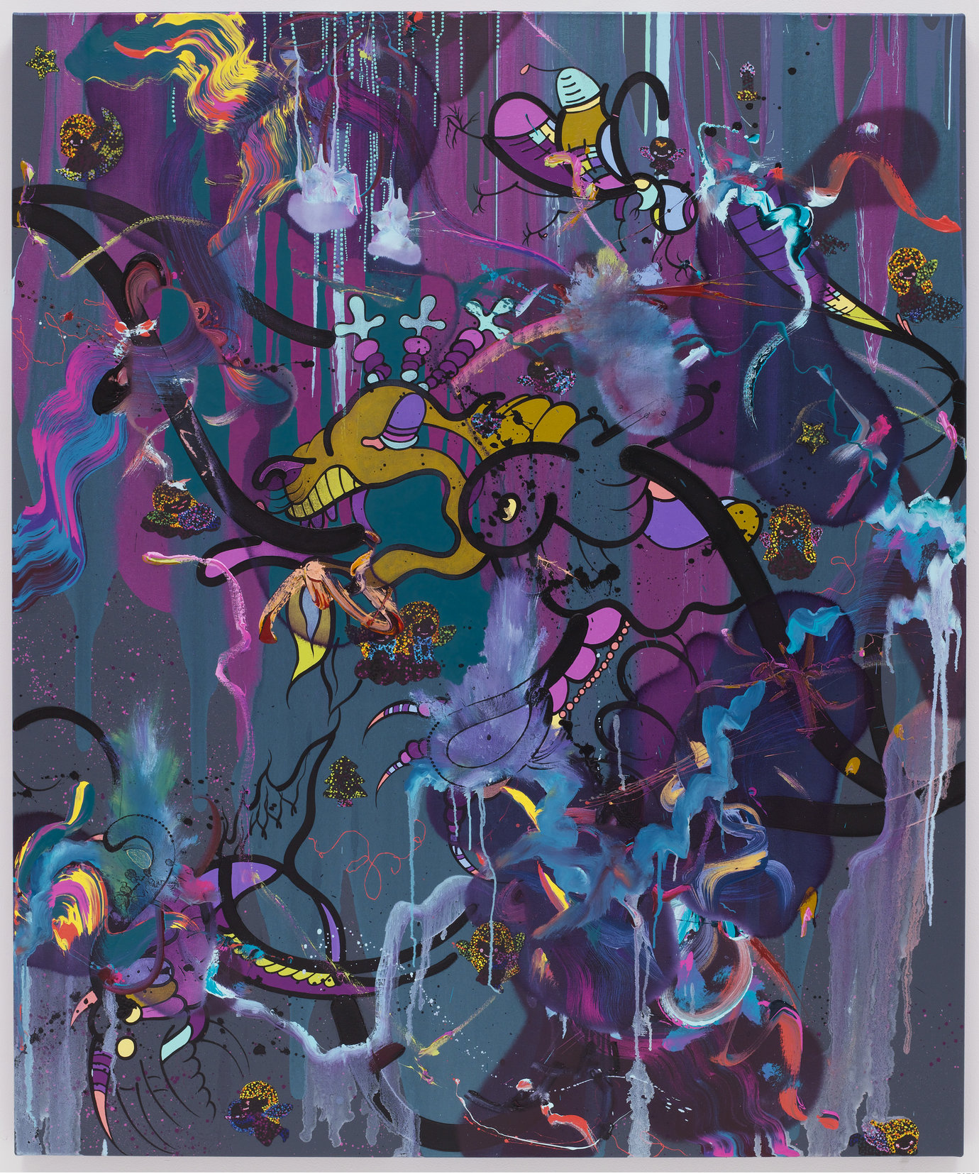 ", 2009. Oil, acrylic and gouache on canvas, 60"" x 50"" (152.4 cm x 127 cm)."