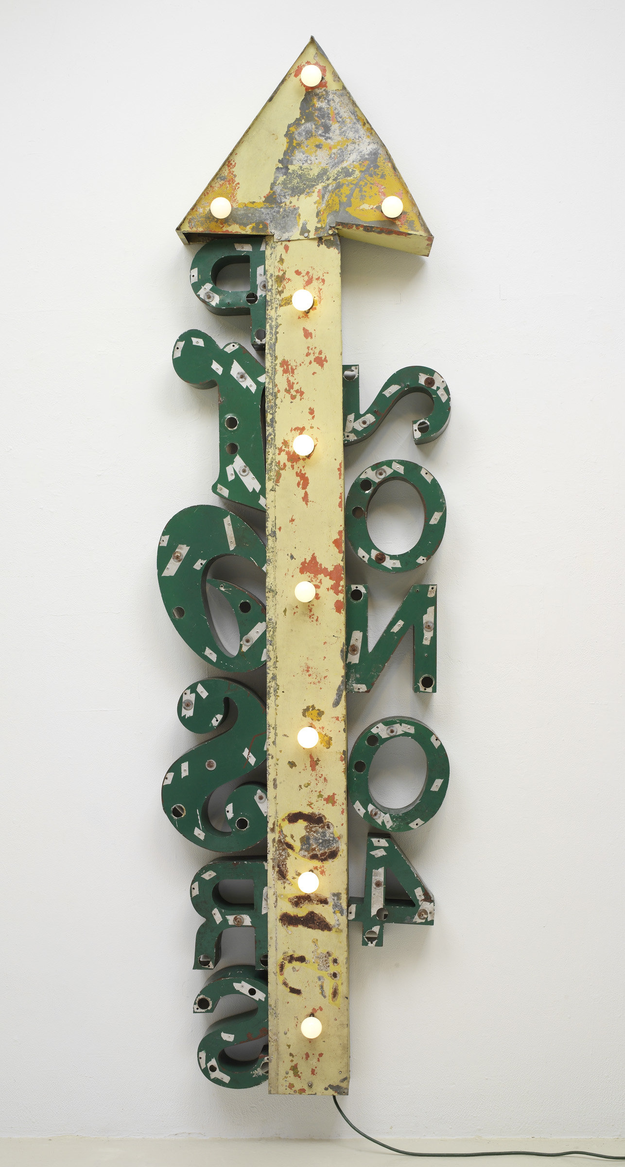 ", 1992. Aluminum, steel, electric lights and timing device, 9' 9"" x 2' 9"" x 1' (297.2 cm x 83.8 cm x 30.5 cm)."
