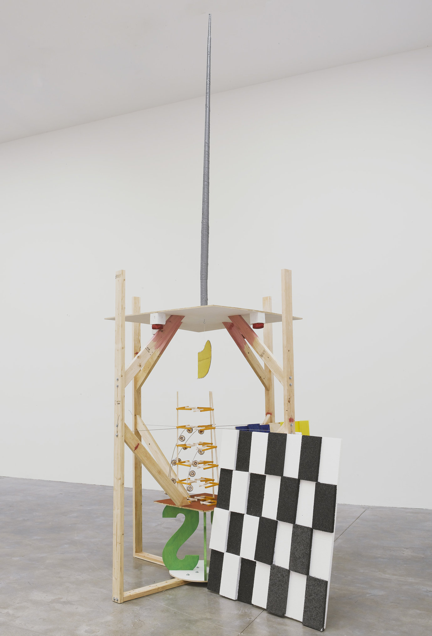 ", 2011. painted Styrofoam, black gesso, acrylic, balsa wood with acrylic, aluminum wire, monofilament, 16' 6"" x 92"" x 92"" (502.9 cm x 233.7 cm x 233.7 cm), overall dimensions variable."