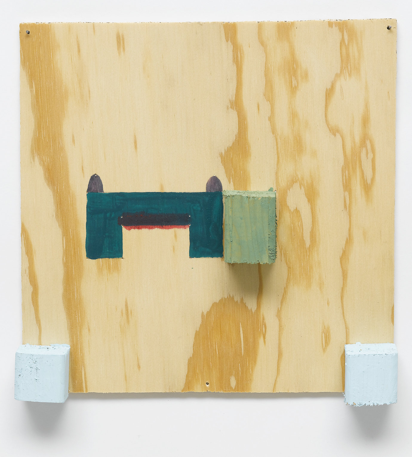 ", 1999. Acrylic on fir plywood, 11"" x 11"" x 1-3/4"" (27.9 cm x 27.9 cm x 4.4 cm)."