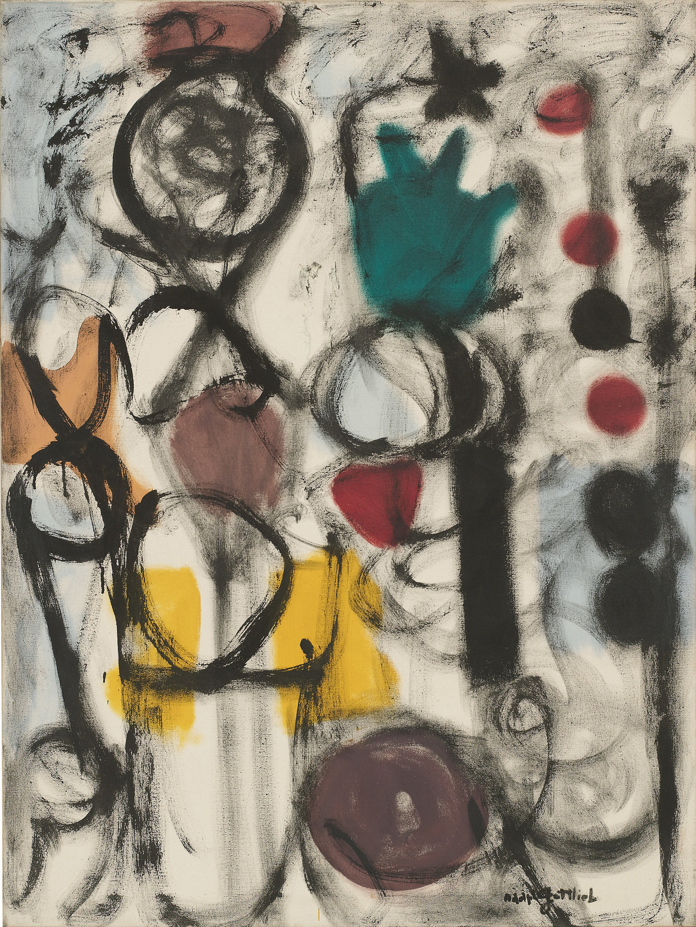 ", 1951. oil on canvas, 48"" x 36"" (121.9 cm x 91.4 cm)."