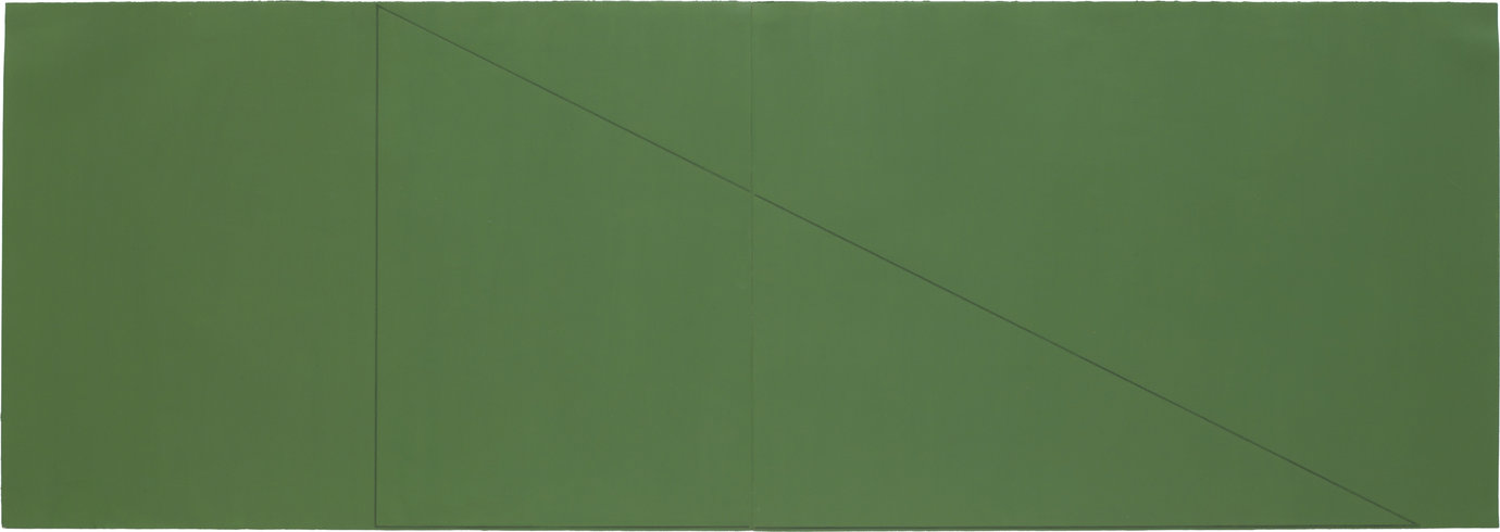 ", 1977. Acrylic and pencil on paper, 27-7/8"" x 78-3/4"" (70.8 cm x 200 cm)."