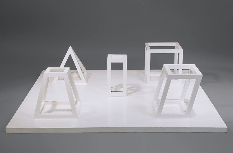 ", 1979. wood painted white, 13-1/4"" x 56-1/4"" x 56-1/4"" (33.7 cm x 142.9 cm x 142.9 cm)."