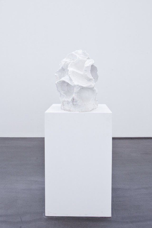 , 2011. White marble, 63 x 60 x 46cm.