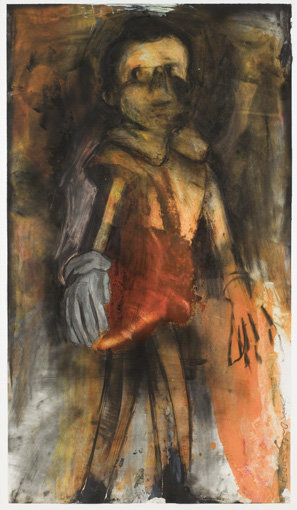 ", 2007. Charcoal, oil, acrylic, and pastel on paper, 59-1/2"" x 33-1/2"" (151.1 cm x 85.1 cm)."