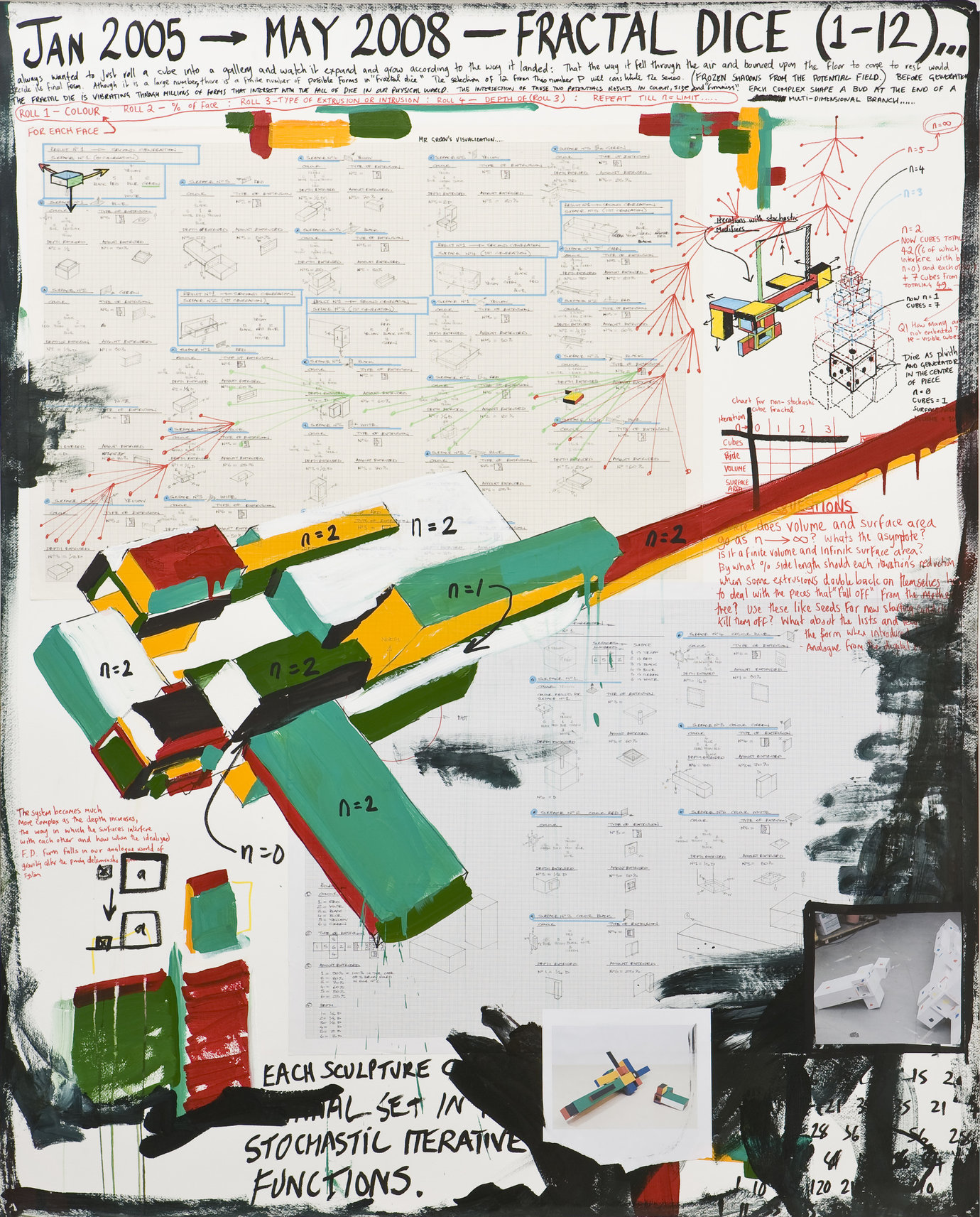 ", 2005-2008. mixed media on watercolour paper, 157 x 126 cm (61-13/16 x 49-5/8"")."