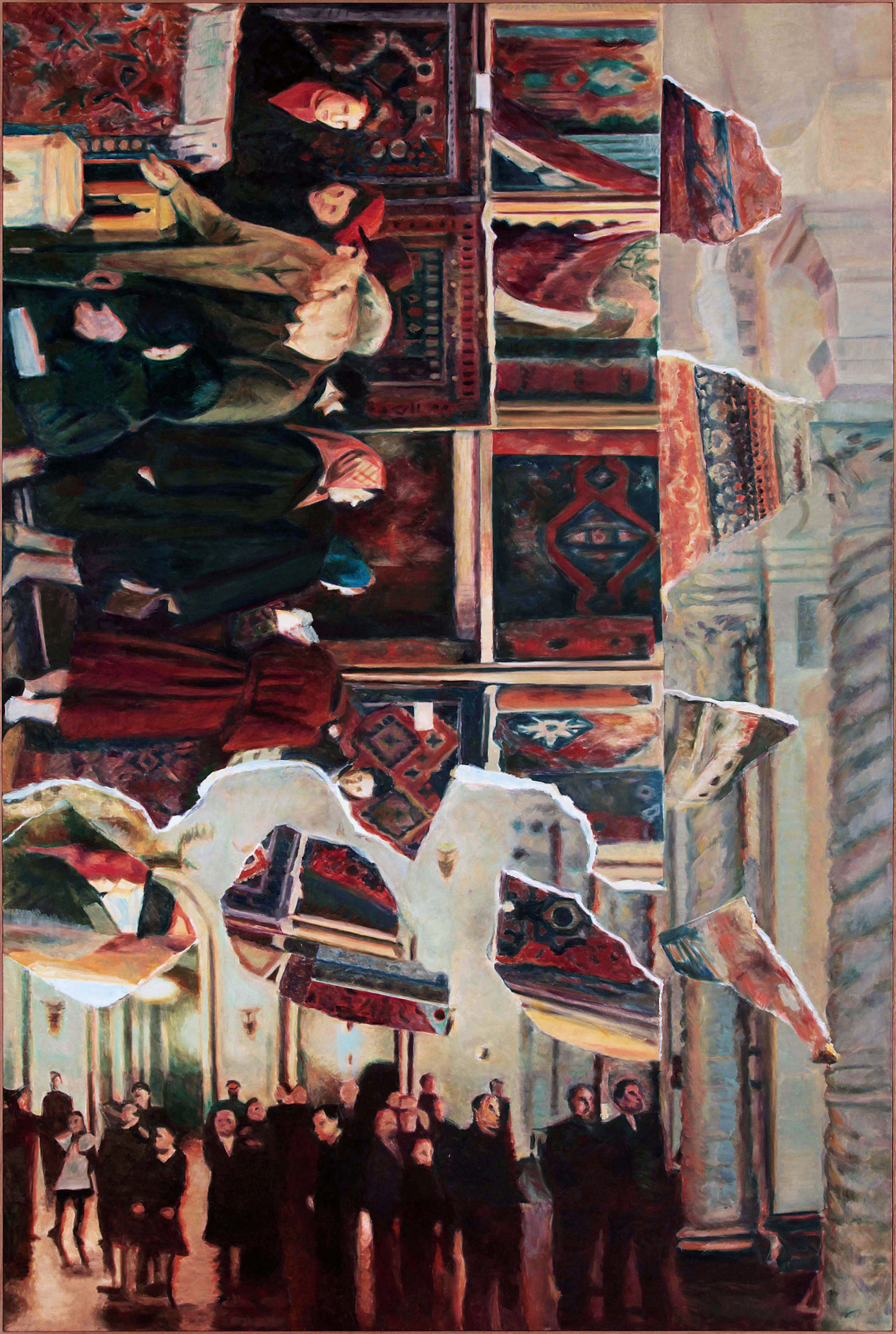 ", 2012. oil on canvas, 9' 4"" x 6' 3"" (284.5 cm x 190.5 cm)."