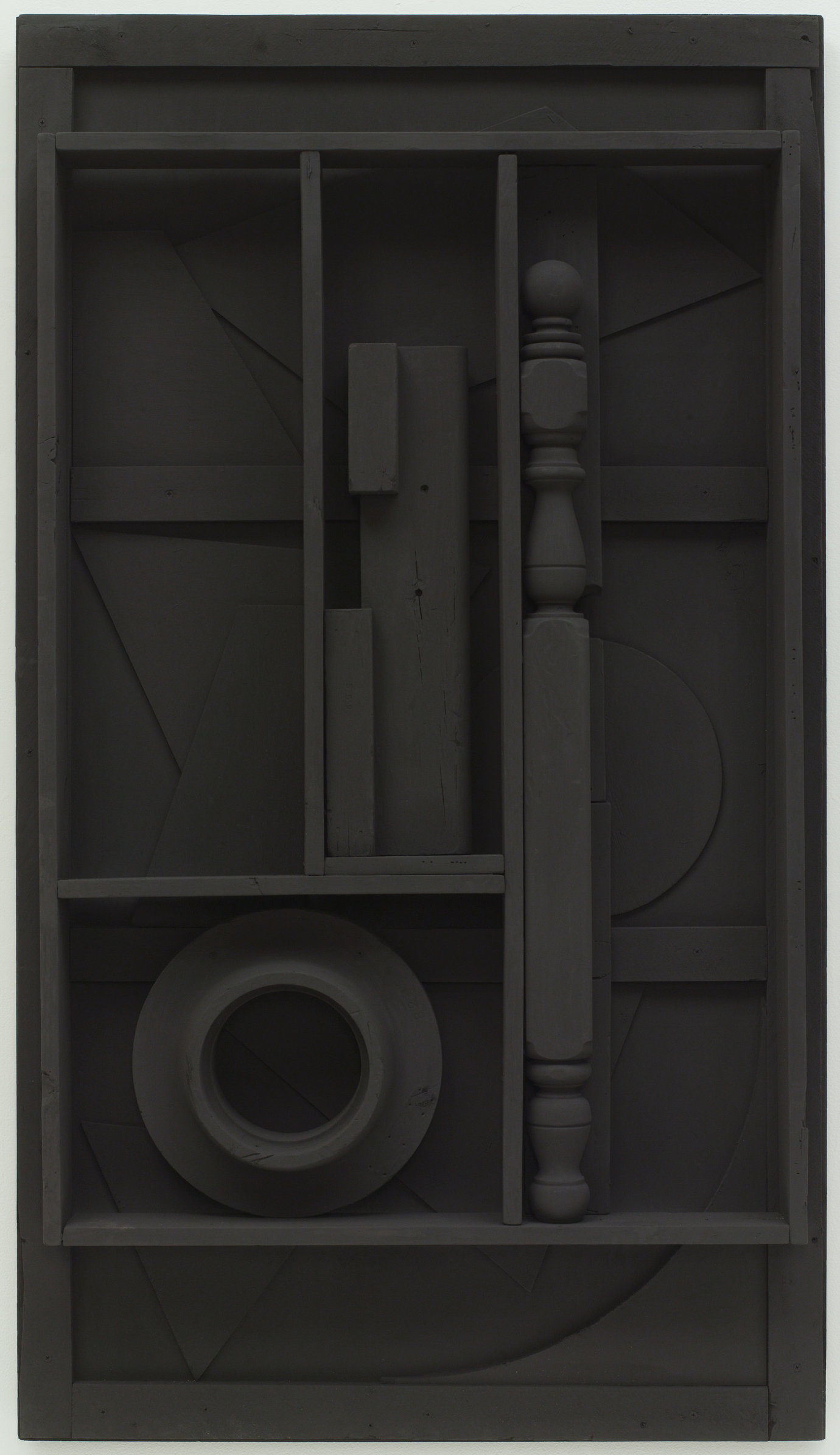 ", 1976-78. wood painted black, 60-1/2"" x 34-1/4"" x 5-1/2"" (153.7 cm x 87 cm x 14 cm)."