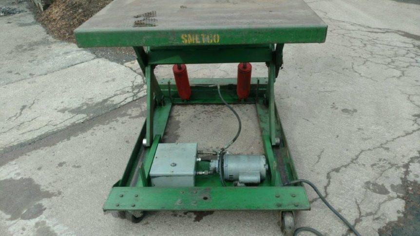 Smetco Hydraulic Lift Table #2314