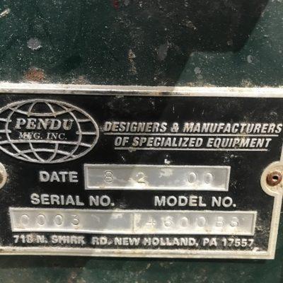 Pendu 4600 B Stacker Face Plate #2429