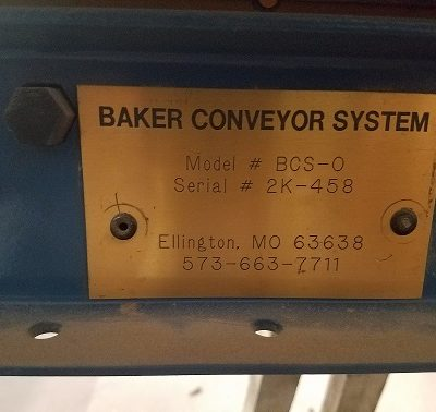 Baker 2HD Resaw Conveyor Face Plate #2344