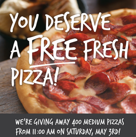 LONDON FREE PIZZA DAY
