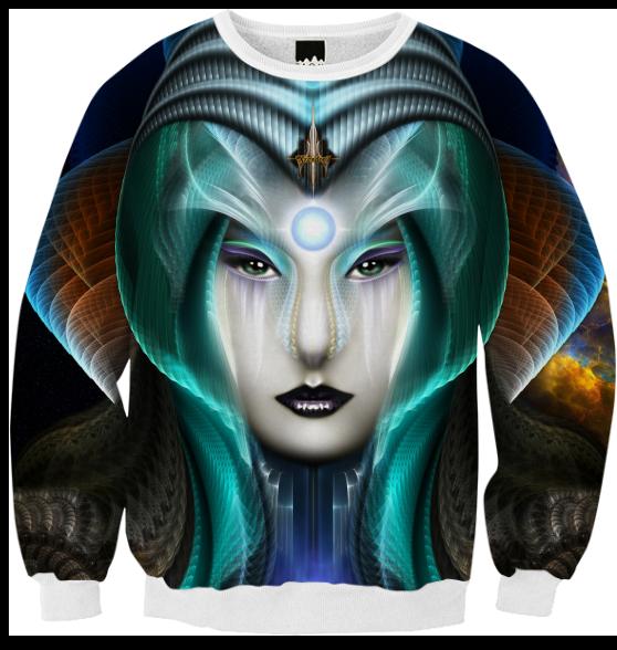 Portrait Of Cyiria Ribbed Sweatshirt