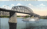 LandN Bridge Newport History Postcard