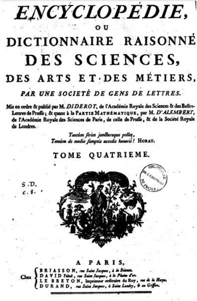 Page1 394px diderot   encyclopedie 1ere edition tome 4.djvu