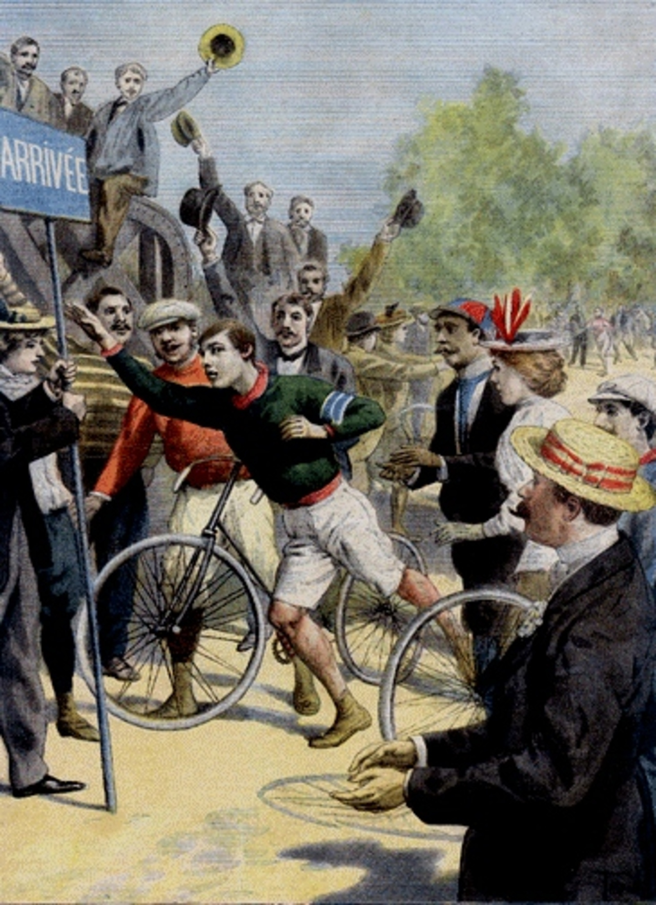 Len_hurst_wins_1896_paris_marathon_-_le_petit_journal_front_page