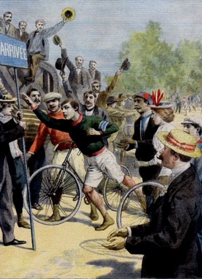 Len hurst wins 1896 paris marathon   le petit journal front page