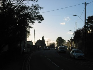 St Michael's Church, Loughor from road looking west.