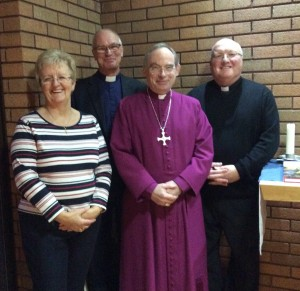 John with John, Brenda and Bishop Richard before the retreat