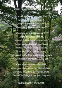 Llandre Poem Julie Weston 2016