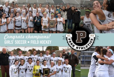 News: Girls' Varsity Soccer and Varsity Field Hockey Win Back-to-Back Conference Championships