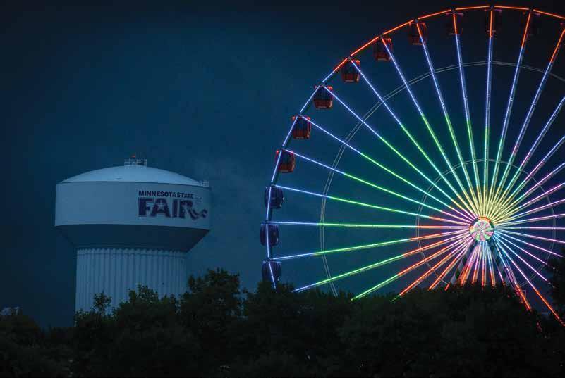 Night scene at the Minnesota State Fair. Photo courtesy of the Minnesota State Fair