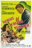 Sorry, Wrong Number's poster (Anatole Litvak)