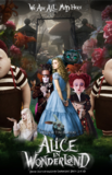 Alice in Wonderland's poster (Tim Burton)