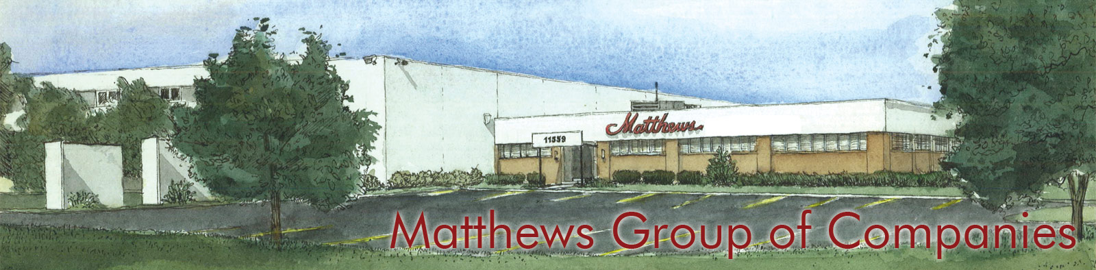 Matthews Books Headquarters Water Color