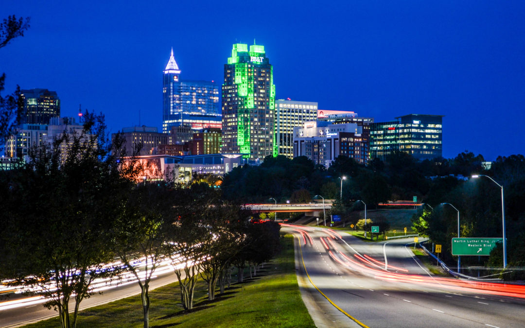 Downtown Raleigh Skyline from S. Saunders Street