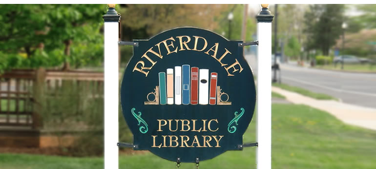 Riverdale Public Library sign