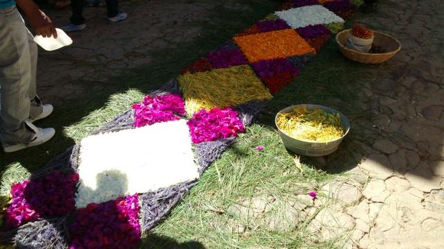 Tapetes florales en pataman