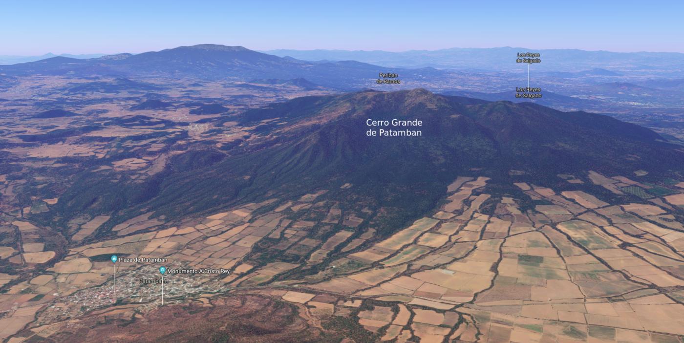 Vista aerea del cerro de patamban