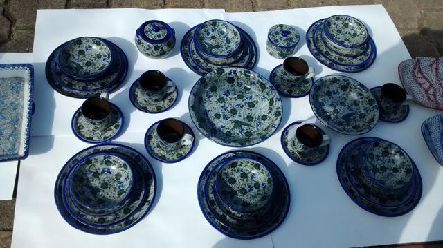 Juego de platos y tazas de ceramica de patamban michoacan