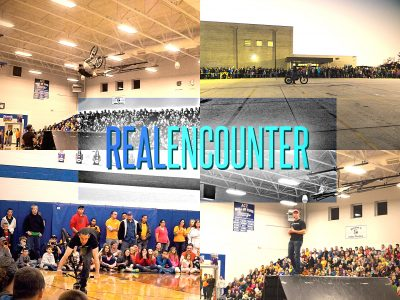 Real Encounter stunts bring 64 to Christ