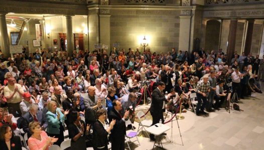 Hundreds rally in support of SJR 39