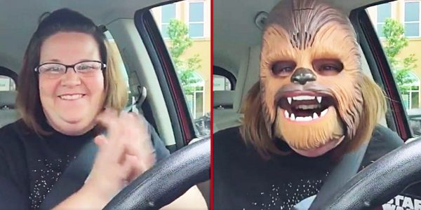 Joy abounds from behind mask in viral video