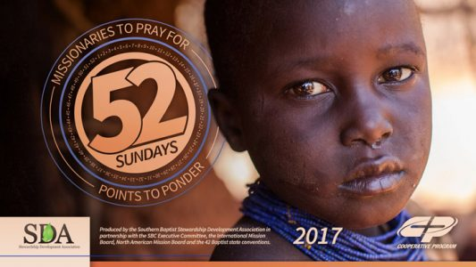 MBC prayer support materials available for 2017