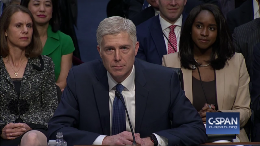 Gorsuch testifies on Roe v. Wade, religious liberty