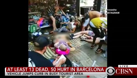 At least 13 killed, 50 injured in Barcelona terror attack