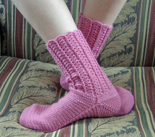 EASY CROCHET SOCK PATTERN - Crochet and Knitting Patterns