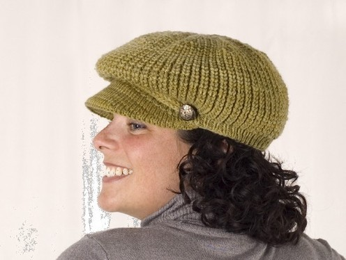 Easy Knitted Newsboy Cap Pattern